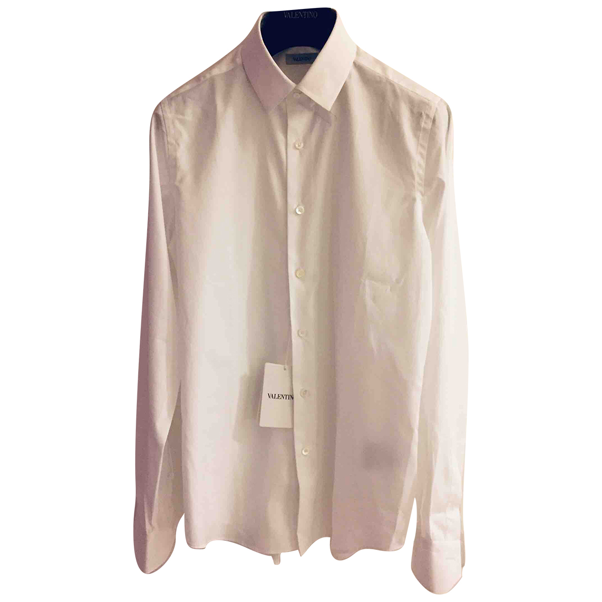 Valentino Garavani \N White Cotton Shirts for Men 39 EU (tour de cou / collar)