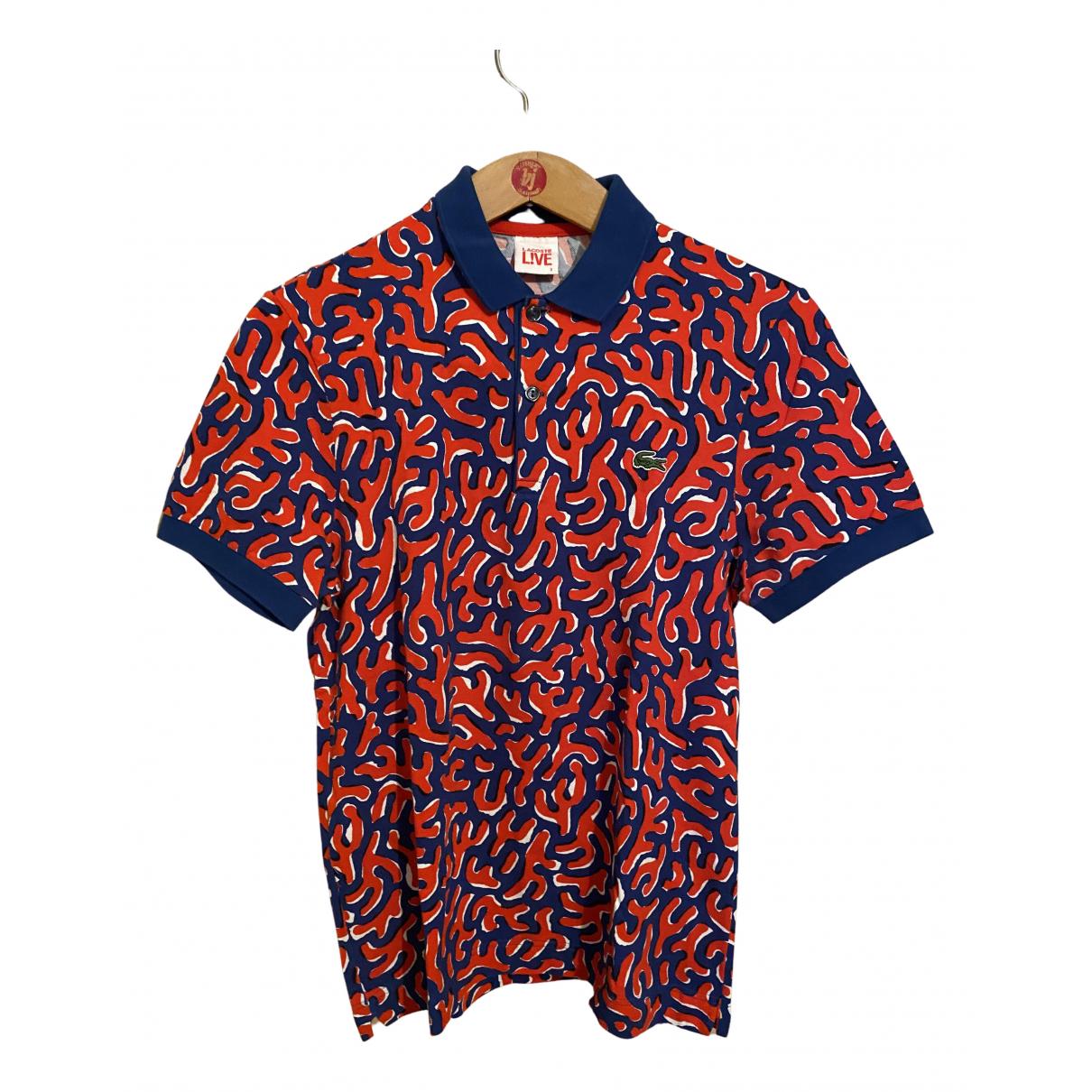 Lacoste Live - Polos   pour homme en coton - rouge