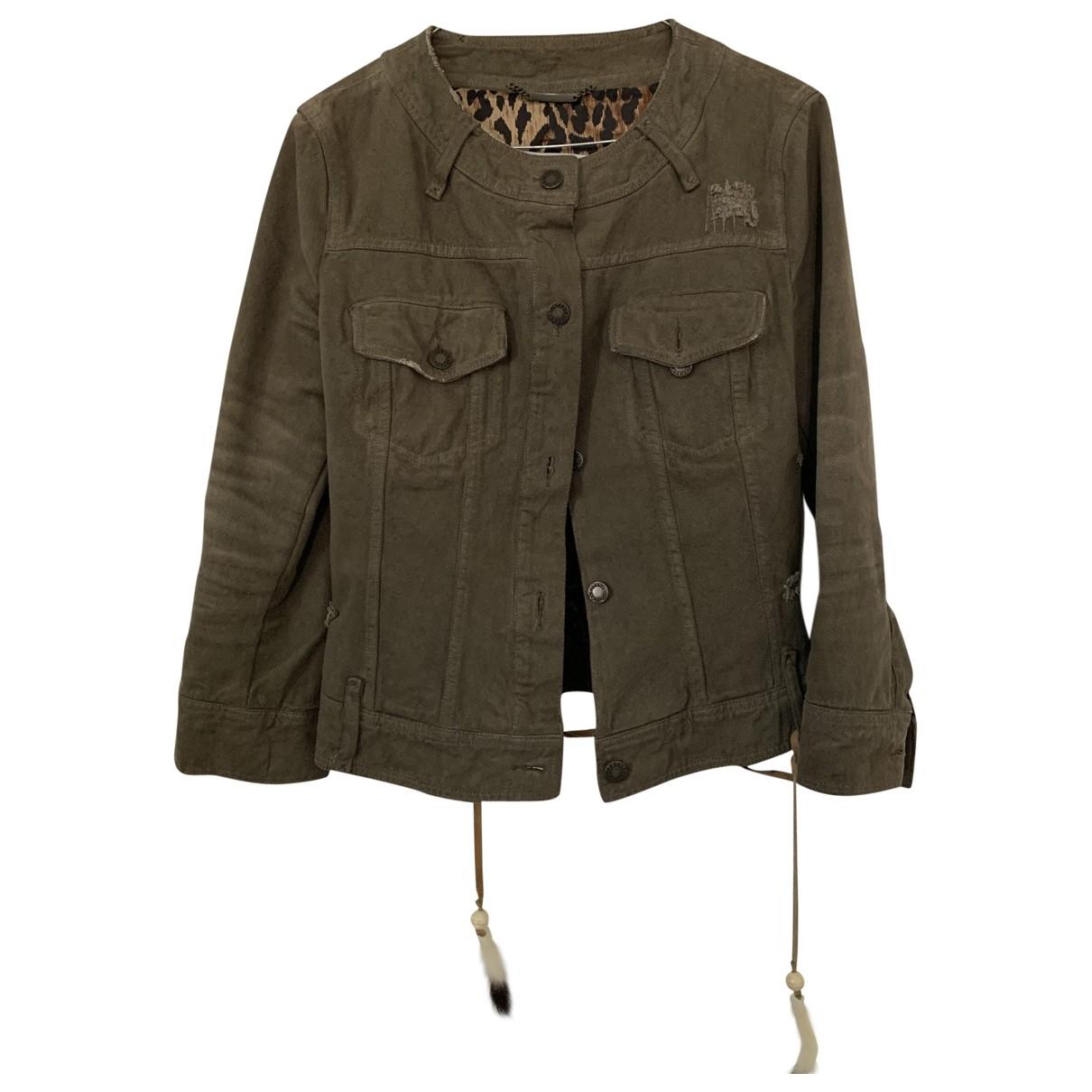 Dolce & Gabbana \N Jacke in  Khaki Denim - Jeans