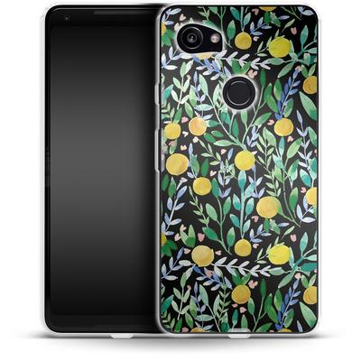 Google Pixel 2 XL Silikon Handyhuelle - Bright Blossoms von Iisa Monttinen