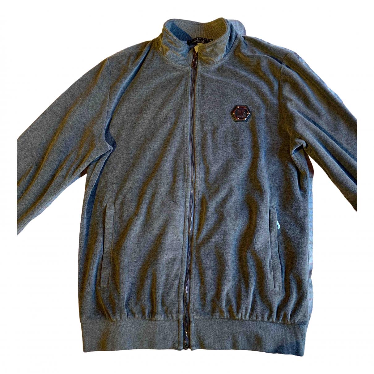 Philipp Plein \N Grey Cotton jacket  for Men 54 IT