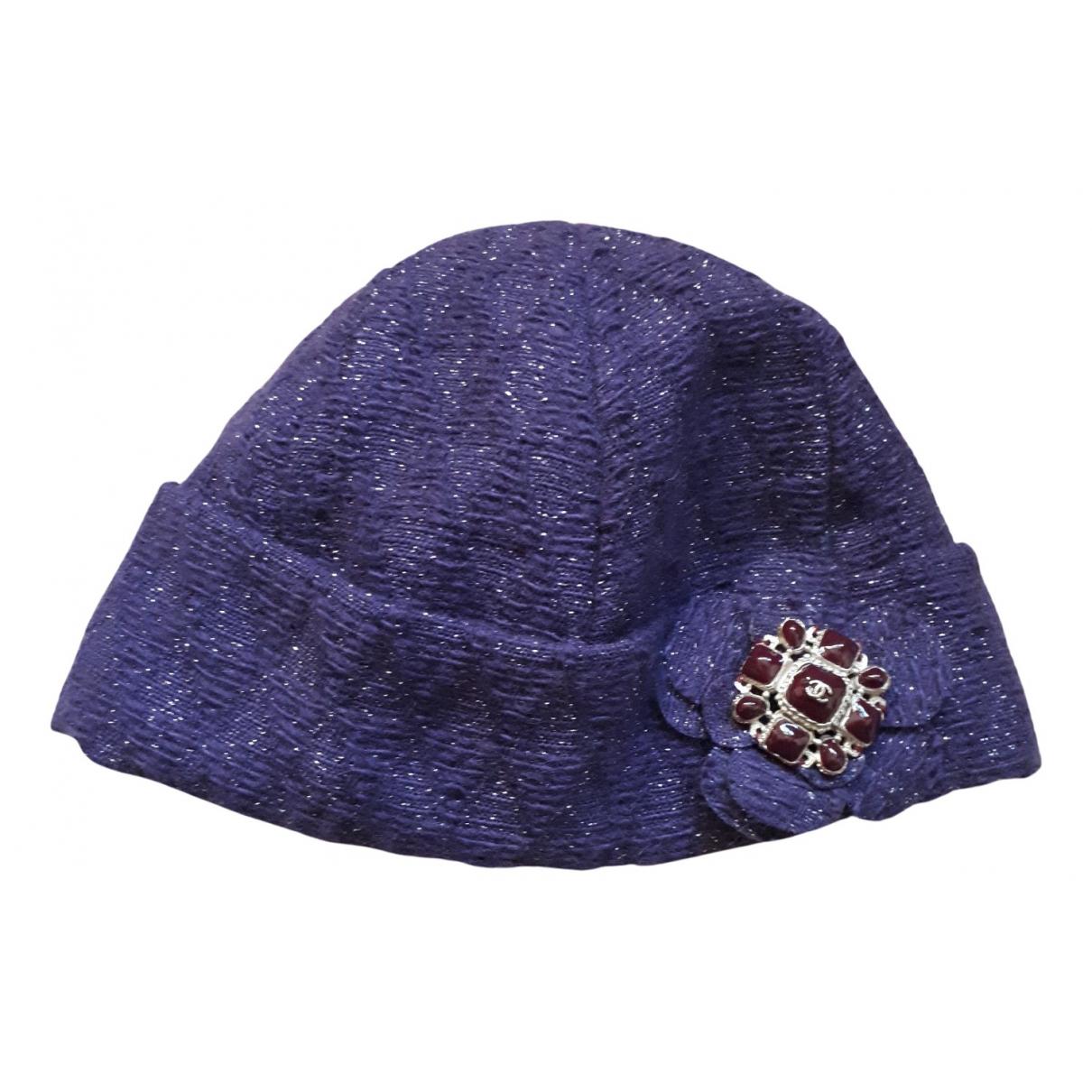 Chanel - Chapeau   pour femme en laine - violet