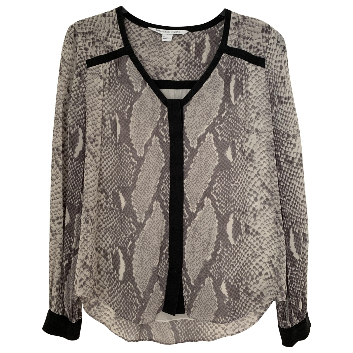 Diane Von Furstenberg \N Grey Silk  top for Women 0 0-5