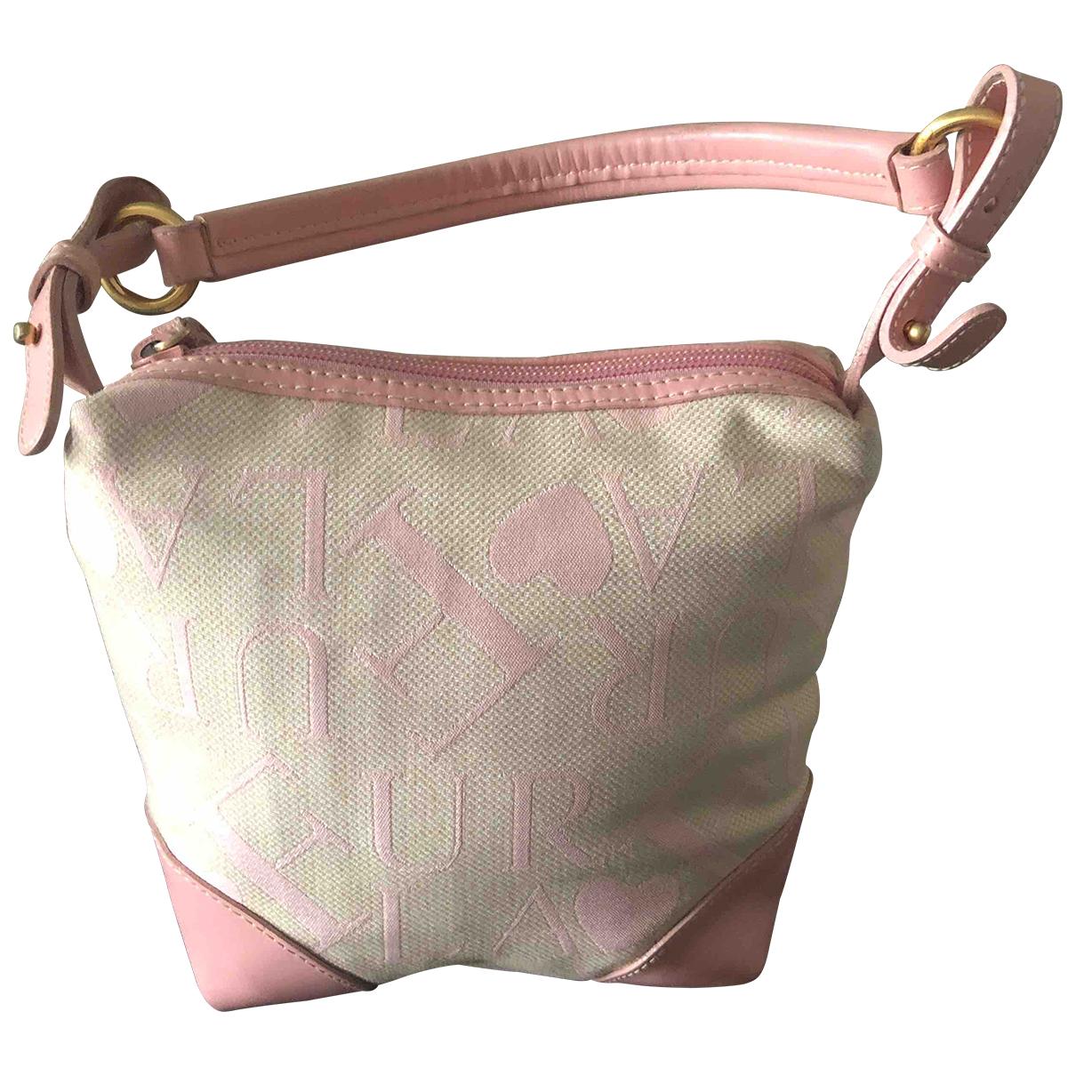 Furla \N Handtasche in  Rosa Baumwolle