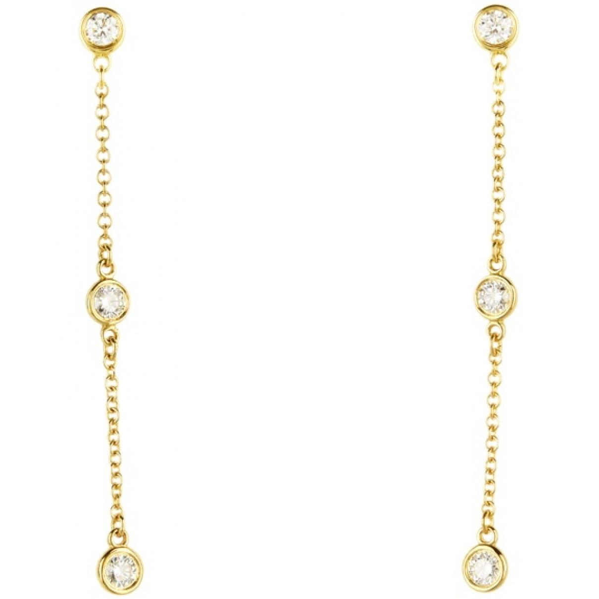 Tiffany & Co - Boucles doreilles   pour femme en or jaune - dore