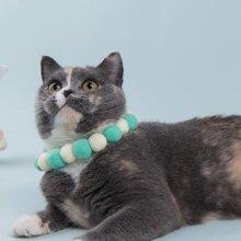 1pc Cat Pom-pom Necklace