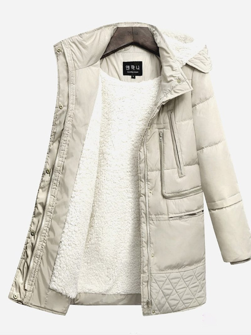Ericdress Zipper Hooded Thick Patchwork Women's Coat