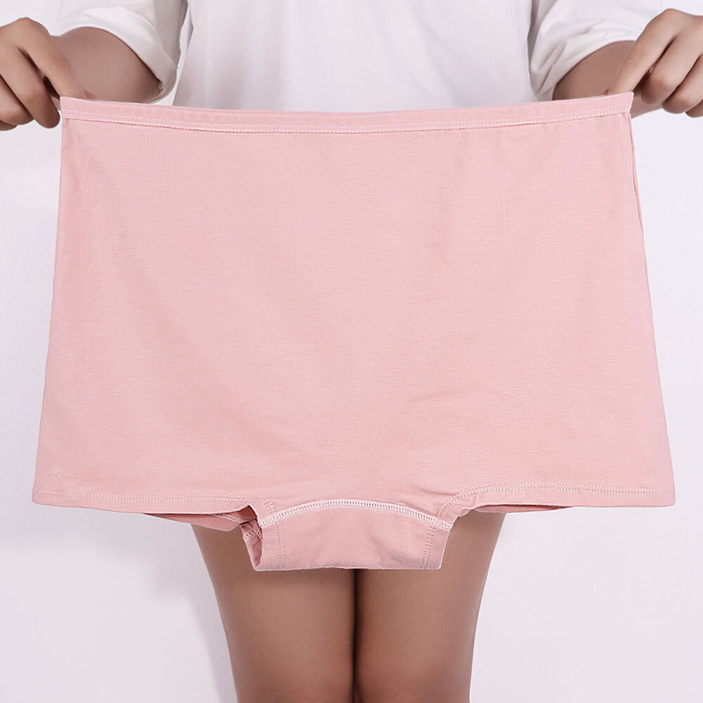 Plus Size High Waisted Tummy Shaping Cotton Panties