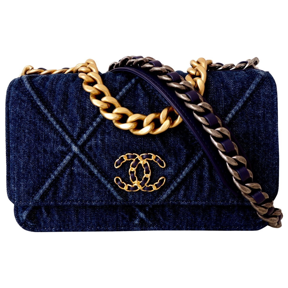 Chanel Chanel 19 Blue Denim - Jeans handbag for Women \N