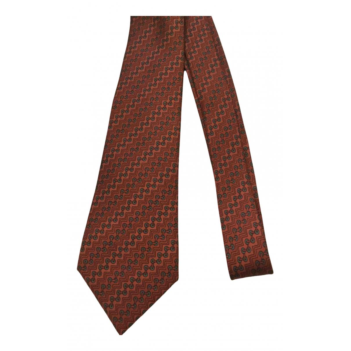 Hermes - Cravates   pour homme en soie - rouge