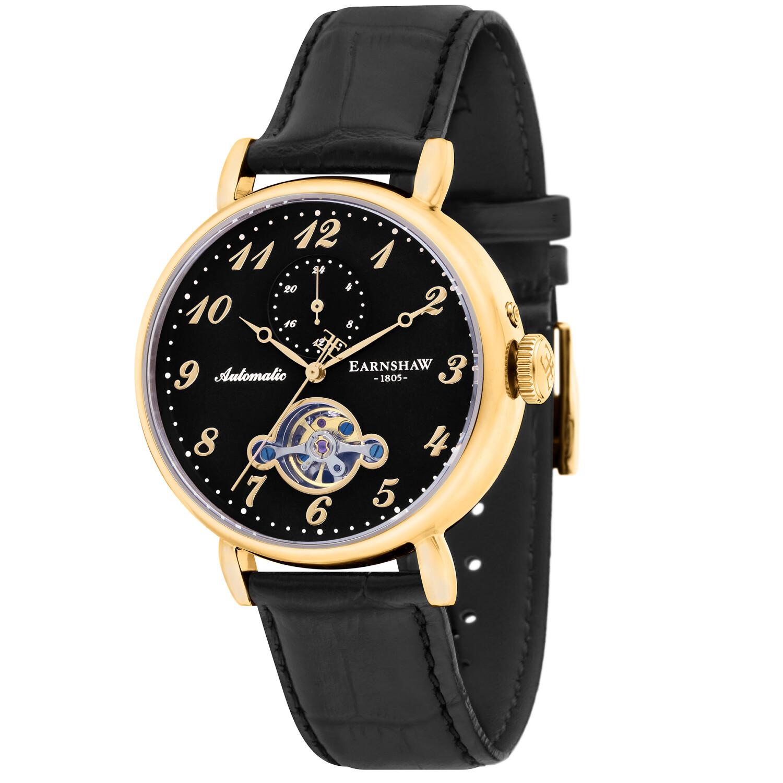 Thomas Earnshaw Men's Grand Legacy Automatic ES-8088-04 Black Leather Hand Wind Dress Watch