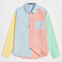 Men Colorblock Shirt