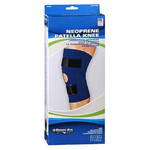 Sportaid Knee Brace Open Patella Blue Neoprene X-Large 17-19 inches 1 each by Scott Specialties