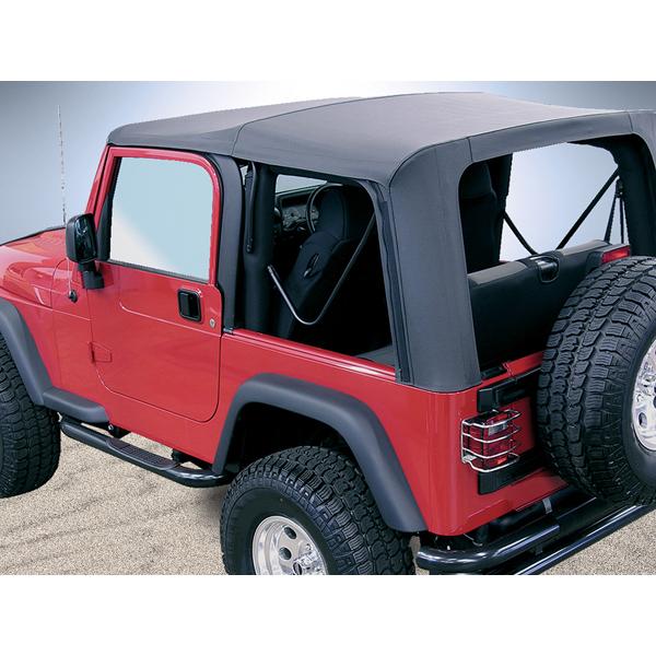 Rugged Ridge 13709.35 Soft Top, Door Skins, Black, Tinted Windows; 03-06 Wrangler TJ Jeep Wrangler 2003-2006