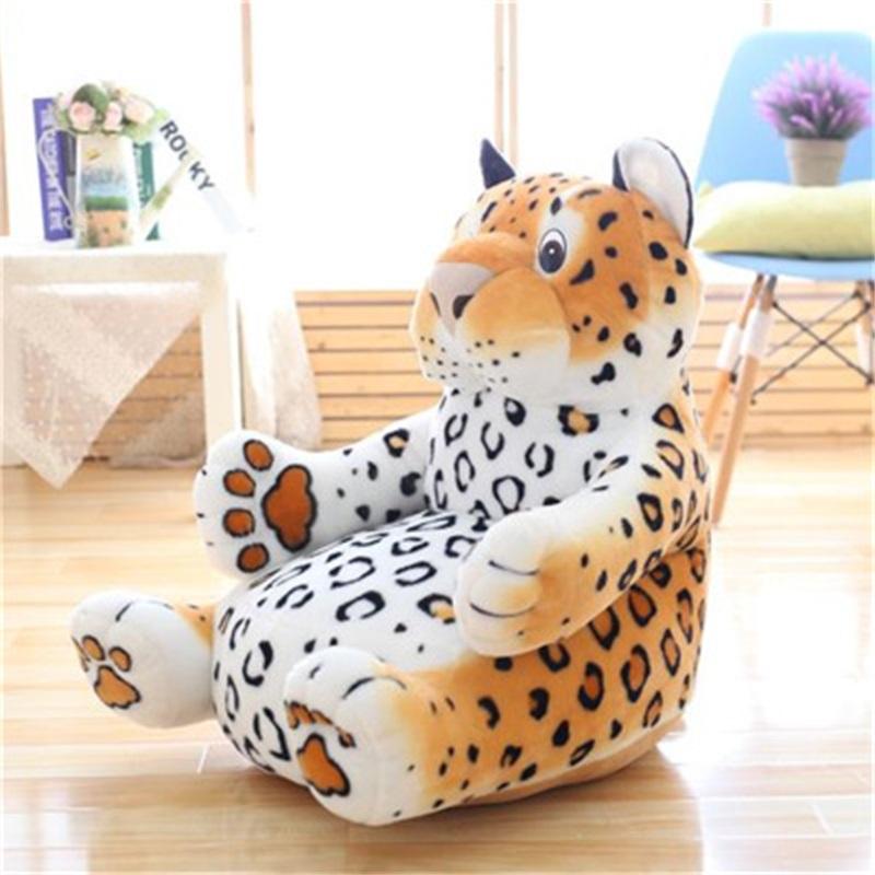 Vivid Tiger/Leopard Shape Plush Kids Sofa /Cushion