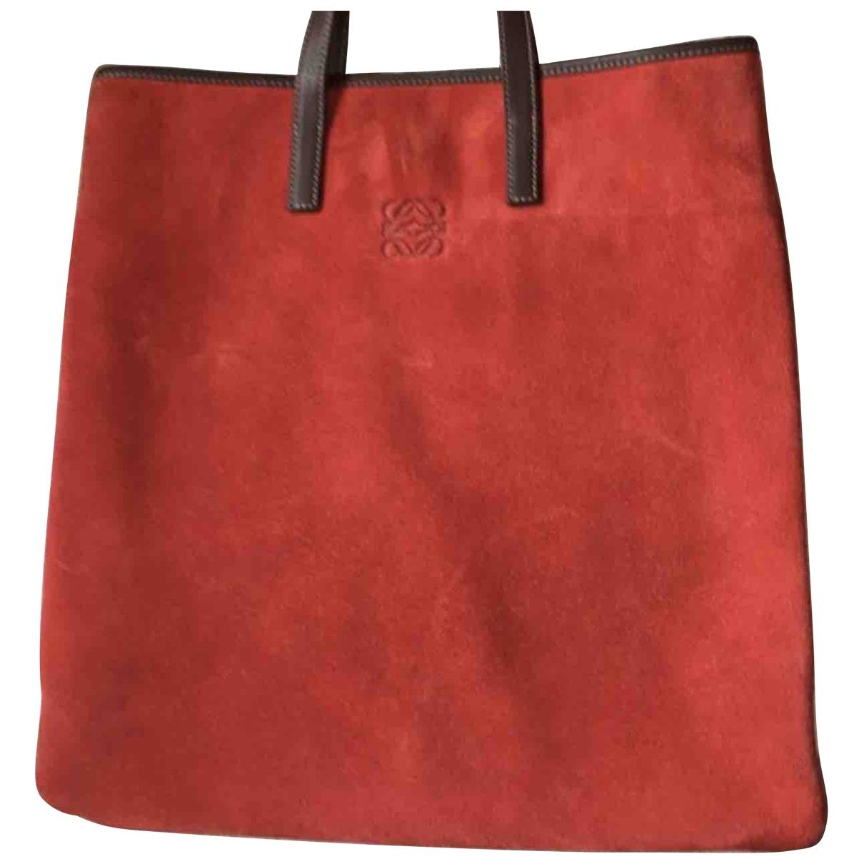 Loewe \N Red Suede handbag for Women \N