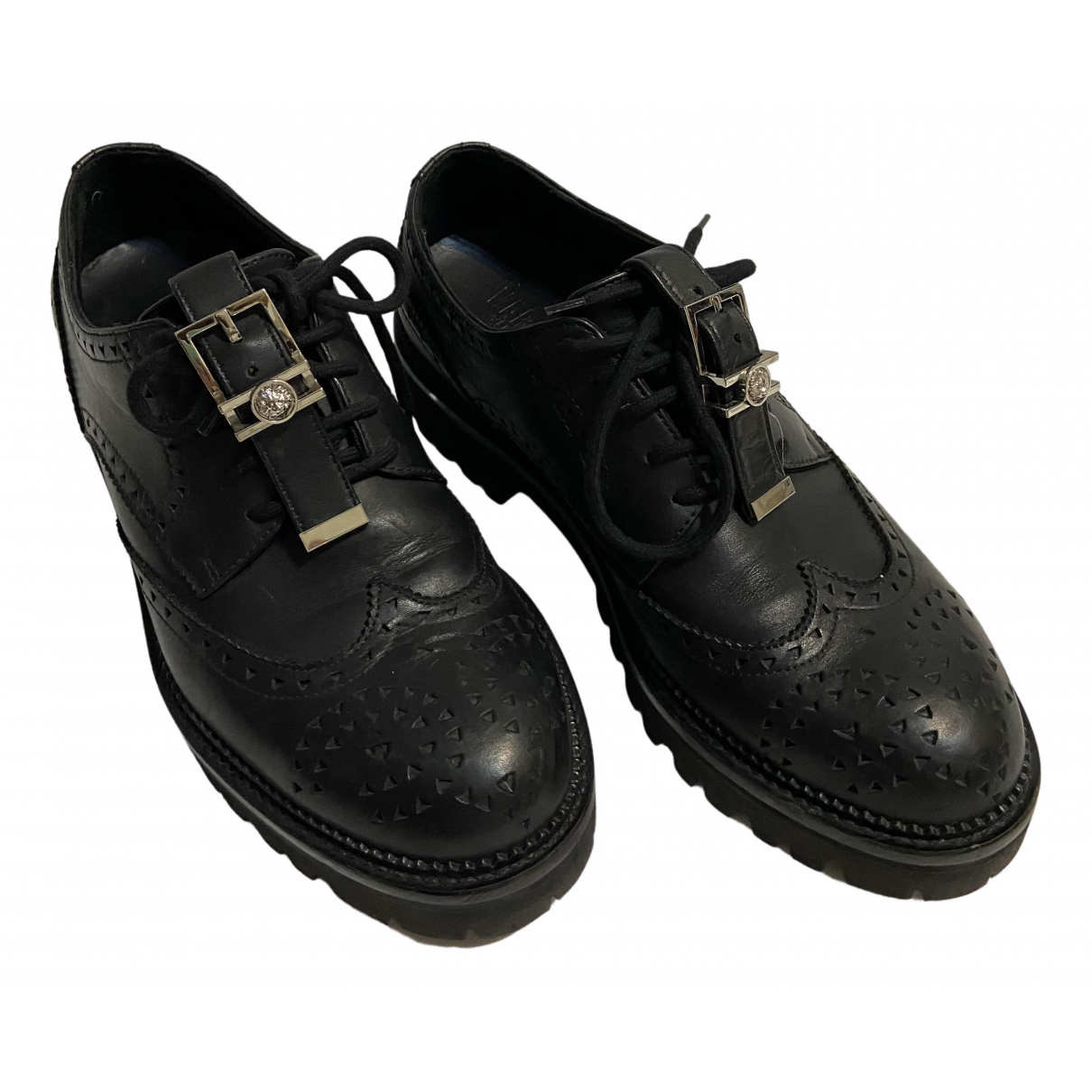 Versus \N Black Leather Lace ups for Men 40 EU