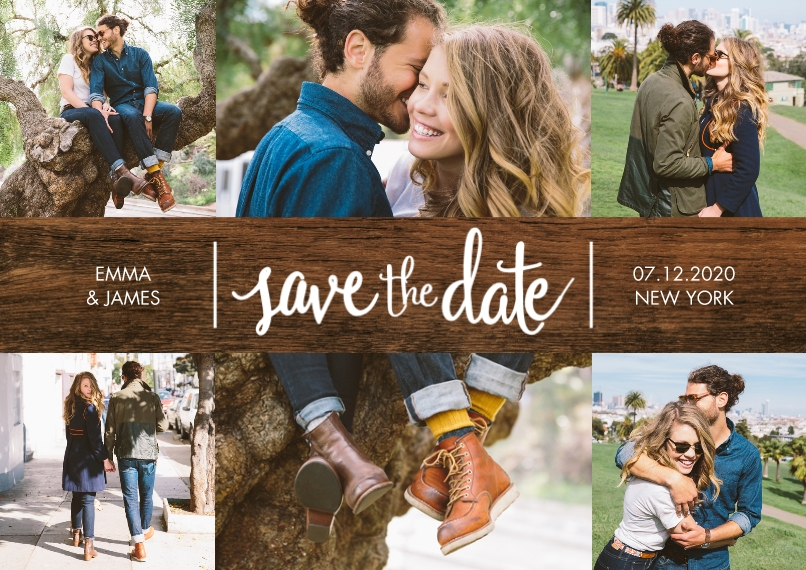 Save the Date 5x7 Cards, Premium Cardstock 120lb with Rounded Corners, Card & Stationery -Save the Date Gleaming