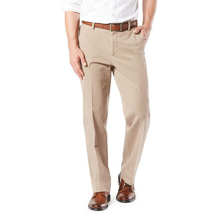Dockers Men's Classic Fit Workday Khaki Smart 360 Flex Flat Front Pant D3, 36 36, Brown