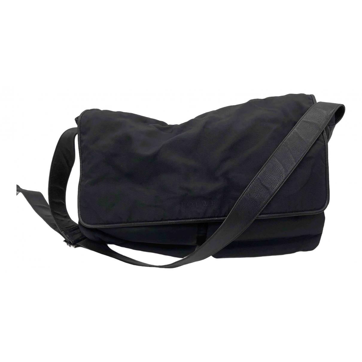 Loewe \N Handtasche in  Schwarz Baumwolle