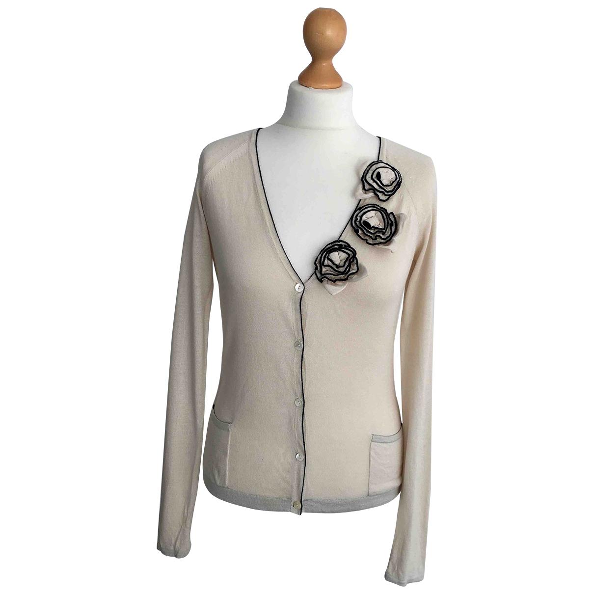 Max Mara Studio \N Ecru Silk Knitwear for Women L International