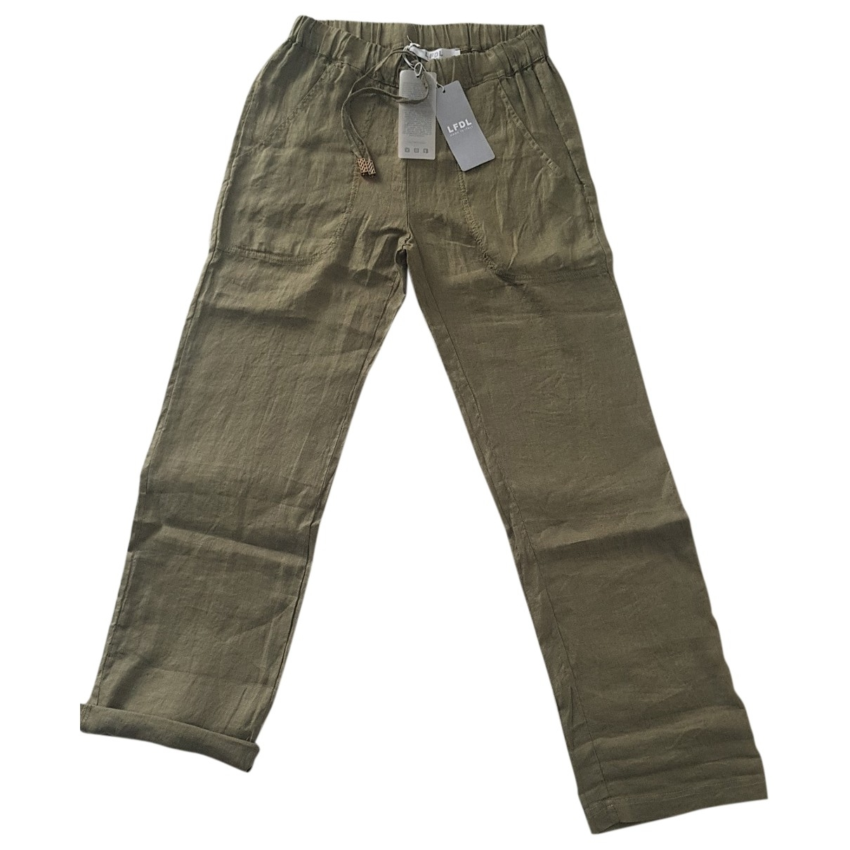 Non Signé / Unsigned \N Linen Trousers for Women 42 IT