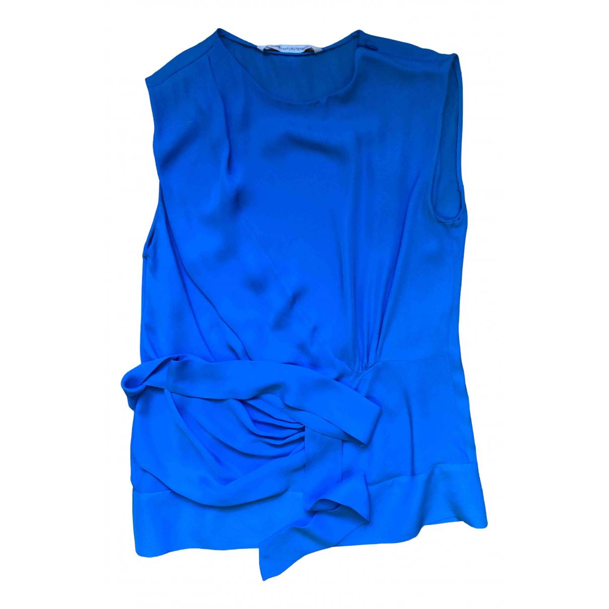 Diane Von Furstenberg N Blue Silk  top for Women 8 UK