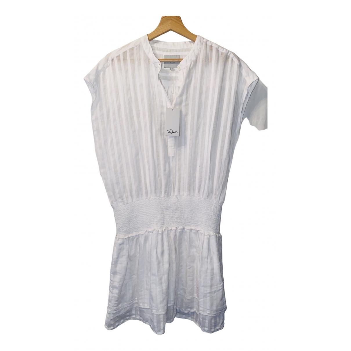 Rails \N Kleid in  Weiss Baumwolle