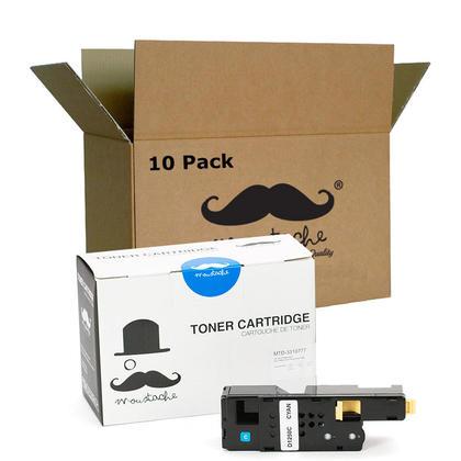 Compatible Dell 331-0777 FYFKF cartouche de toner cyan haute capacite - Moustache@ - 10/paquet
