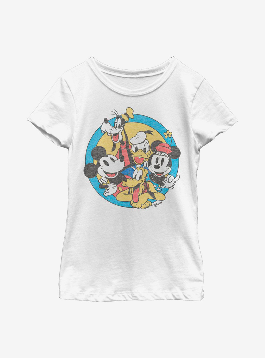 Disney Mickey Mouse Fab Five Friends Youth Girls T-Shirt