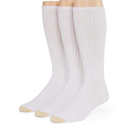 Gold Toe 3-pk. Athletic Liner Over-the-Calf Socks, 10-13 , White