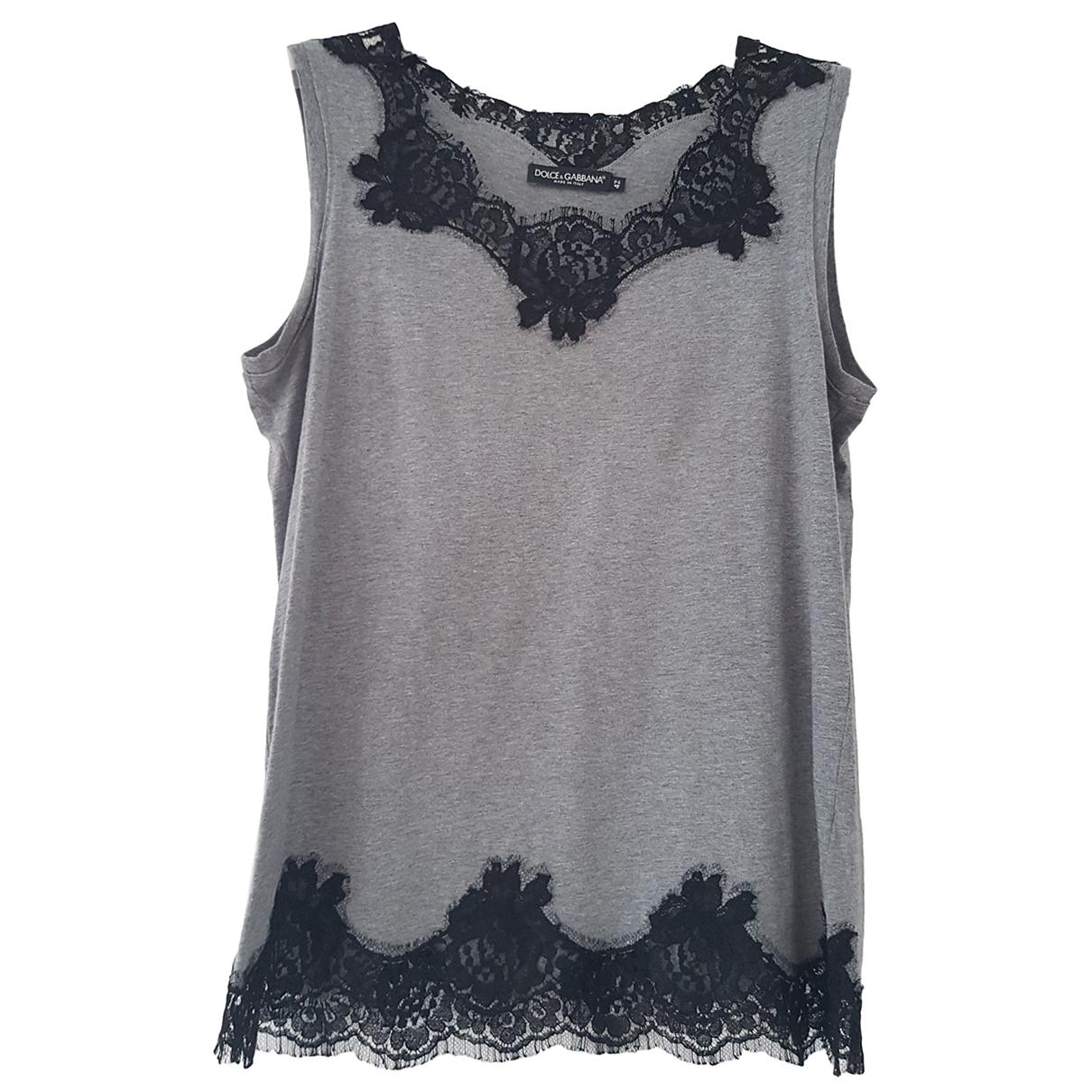 Dolce & Gabbana N Grey Cotton  top for Women 42 IT