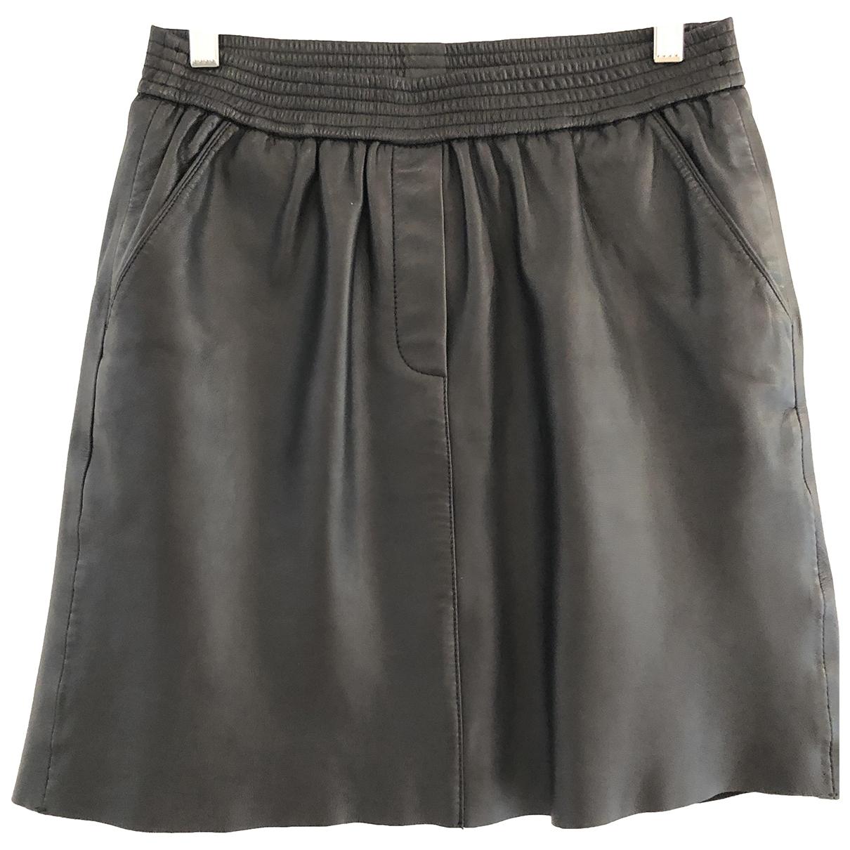 Second Female - Jupe   pour femme en cuir - noir