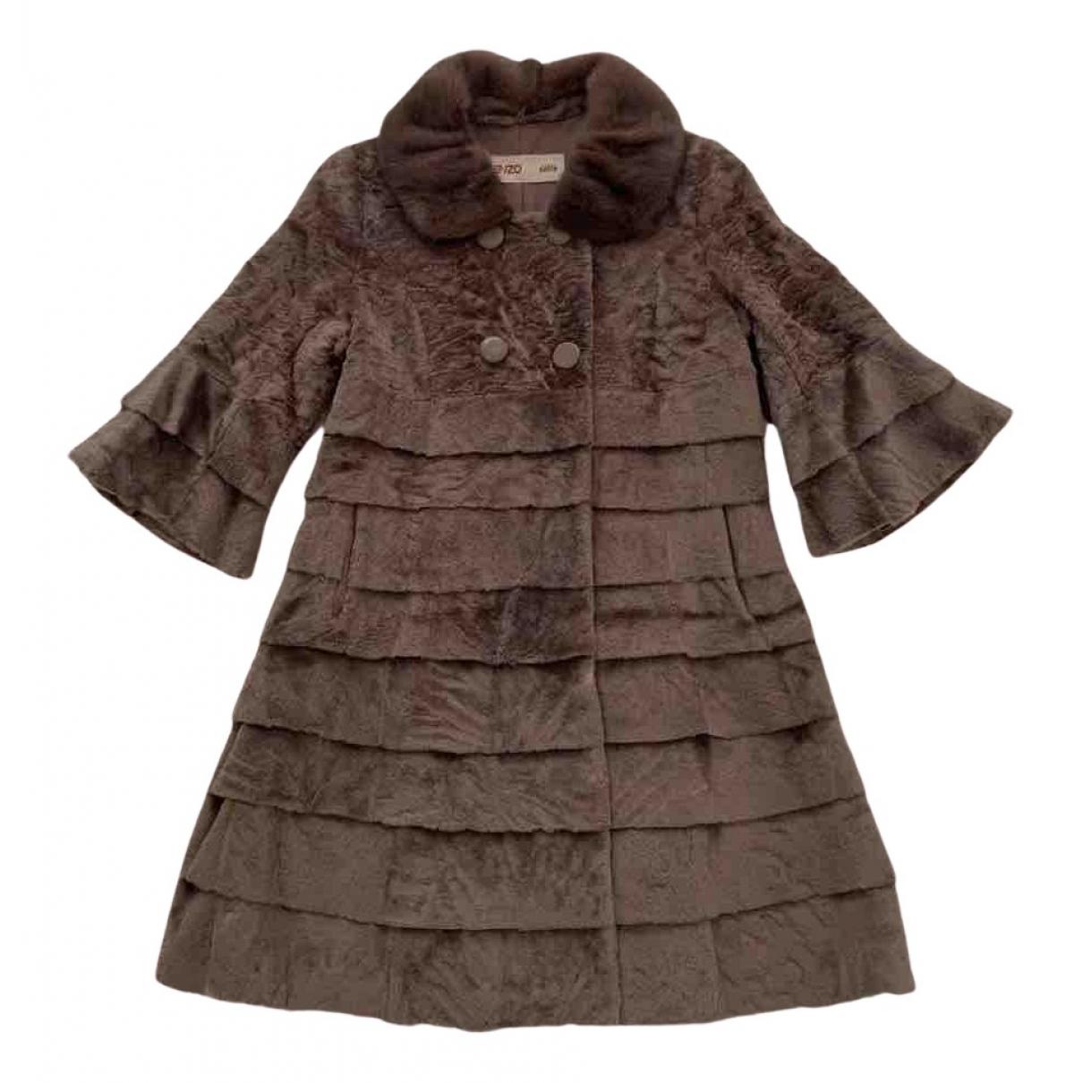 Kenzo - Manteau   pour femme en castor
