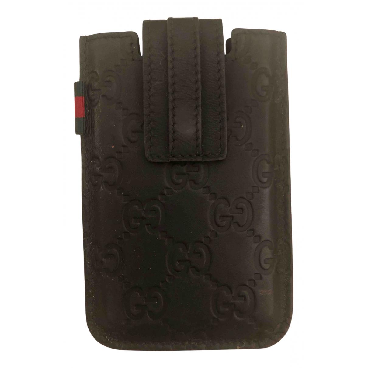 Gucci \N Accessoires in  Schwarz Leder