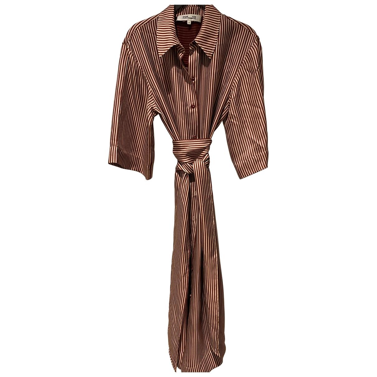 Diane Von Furstenberg - Robe   pour femme en soie - rouge