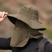 Sombrero cubo de hombres de hombres con cubierta de cara