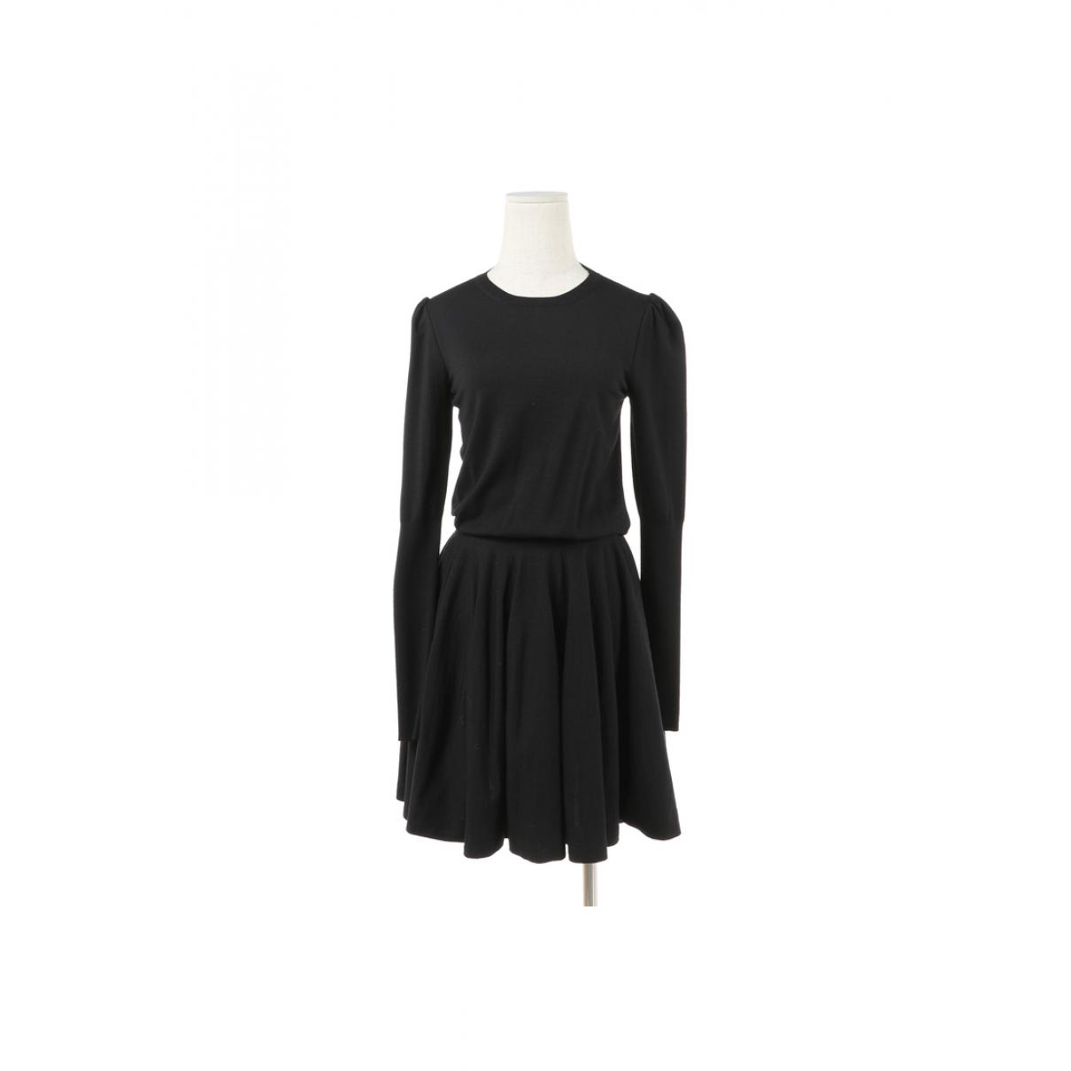Alexander Mcqueen \N Kleid in  Beige Wolle