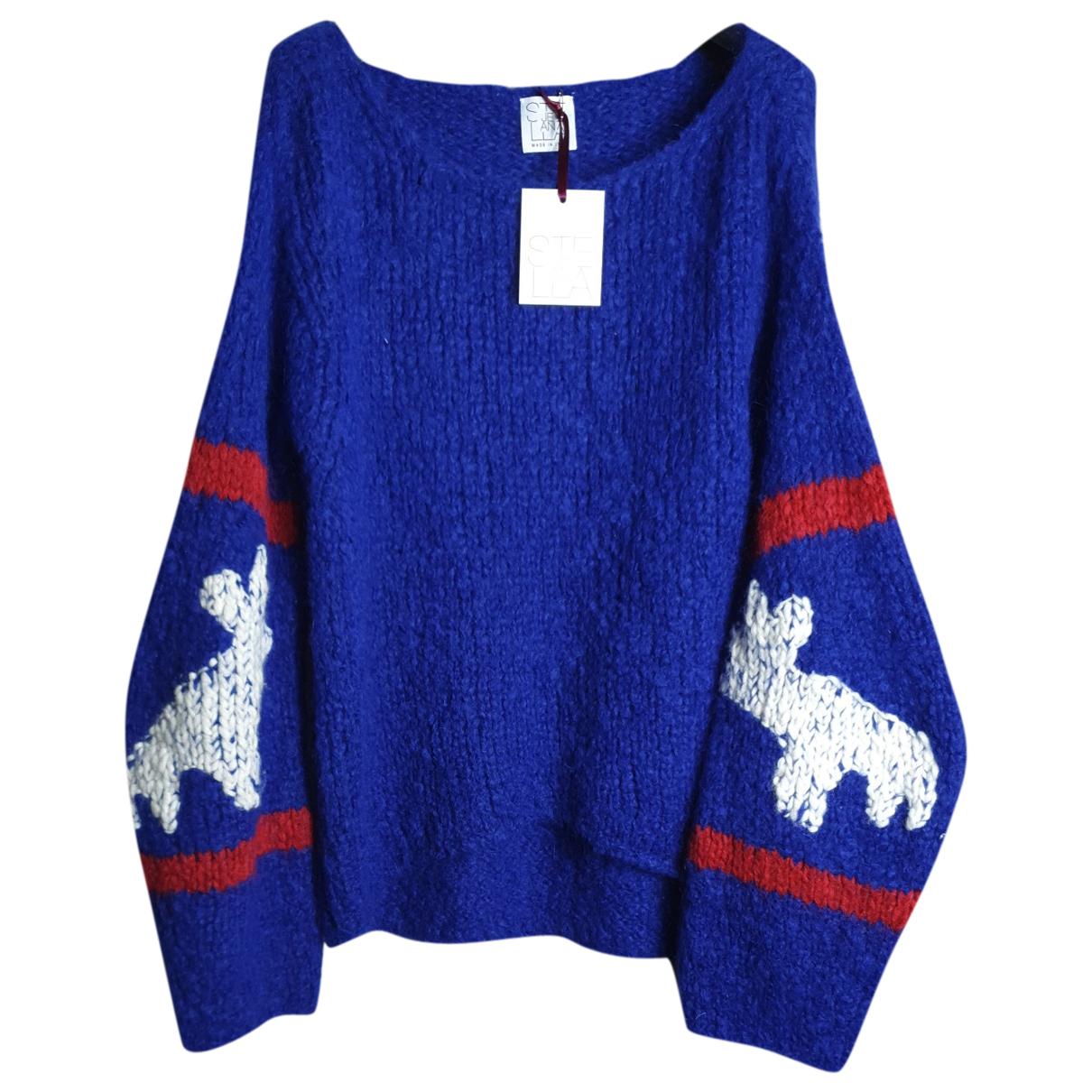 Stella Jean - Pull   pour femme en laine - bleu