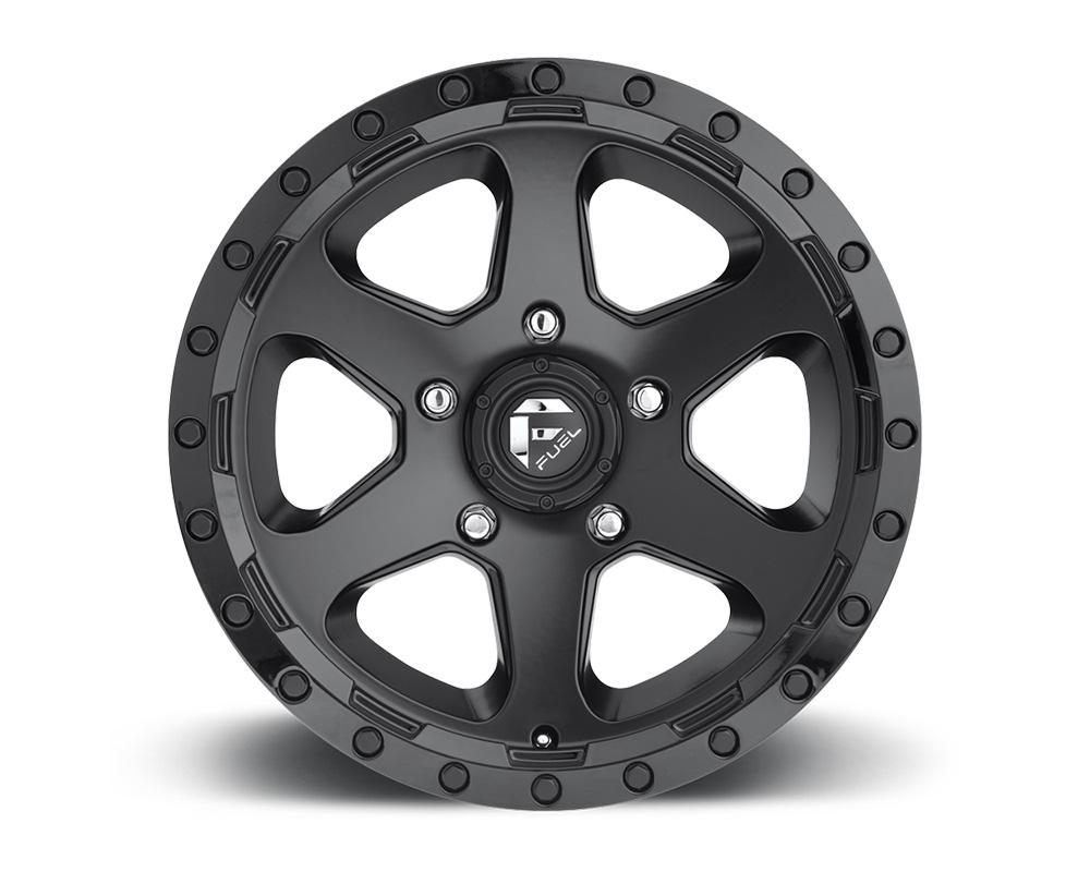 Fuel D589 Ripper Matte Black w/ Gloss Black Lip 1-Piece Cast Wheel 17x9 6x139.7 01mm