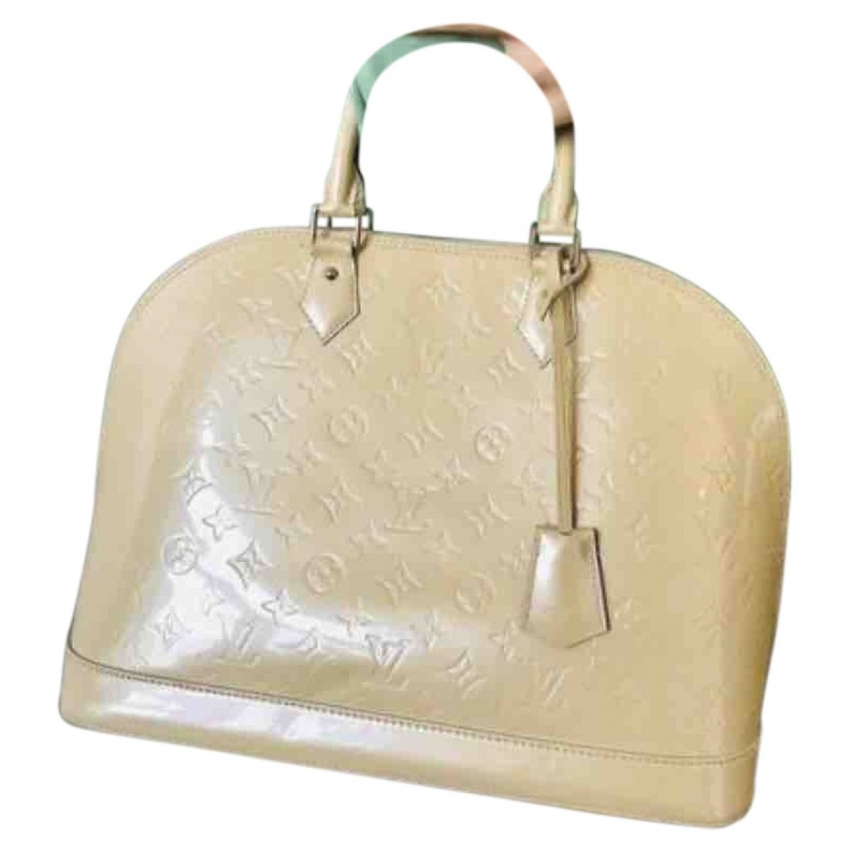 Louis Vuitton Alma Handtasche in  Beige Lackleder
