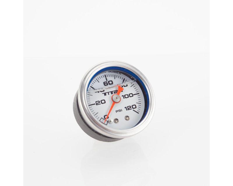 Titan Motorsports TMS ENG-FPG.3 Pressure Gauge Liquid Filled 1-1/2in White 0-120