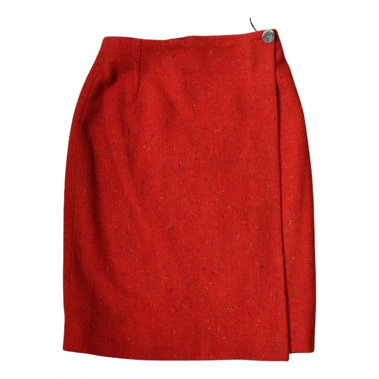 Dior - Jupe   pour femme en tweed - orange