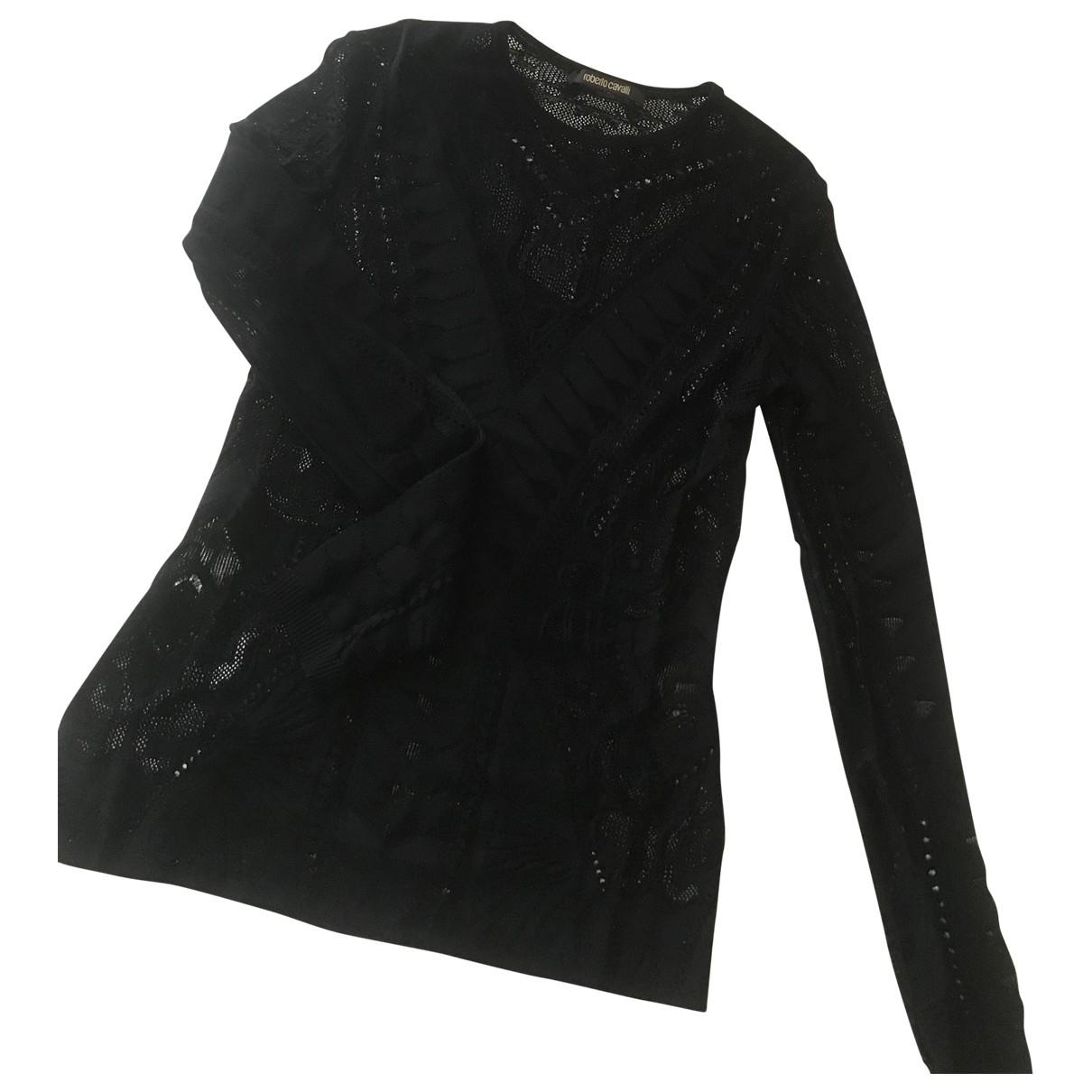 Roberto Cavalli - Top   pour femme en coton - noir
