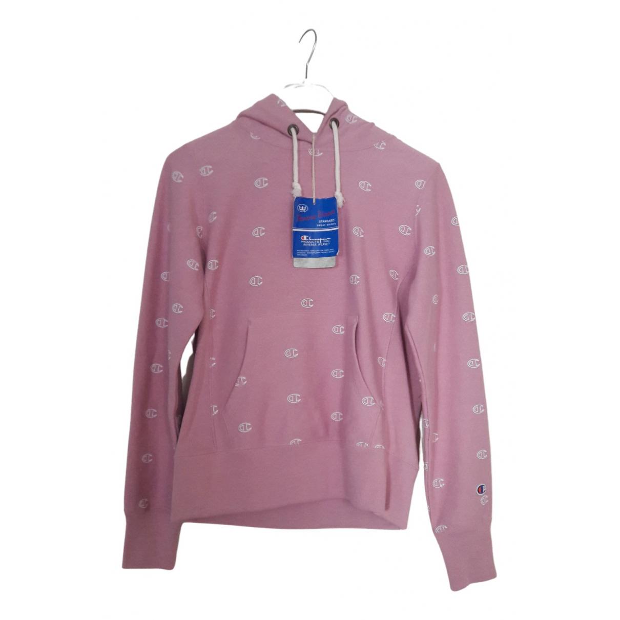 Champion - Pull   pour femme en coton - rose