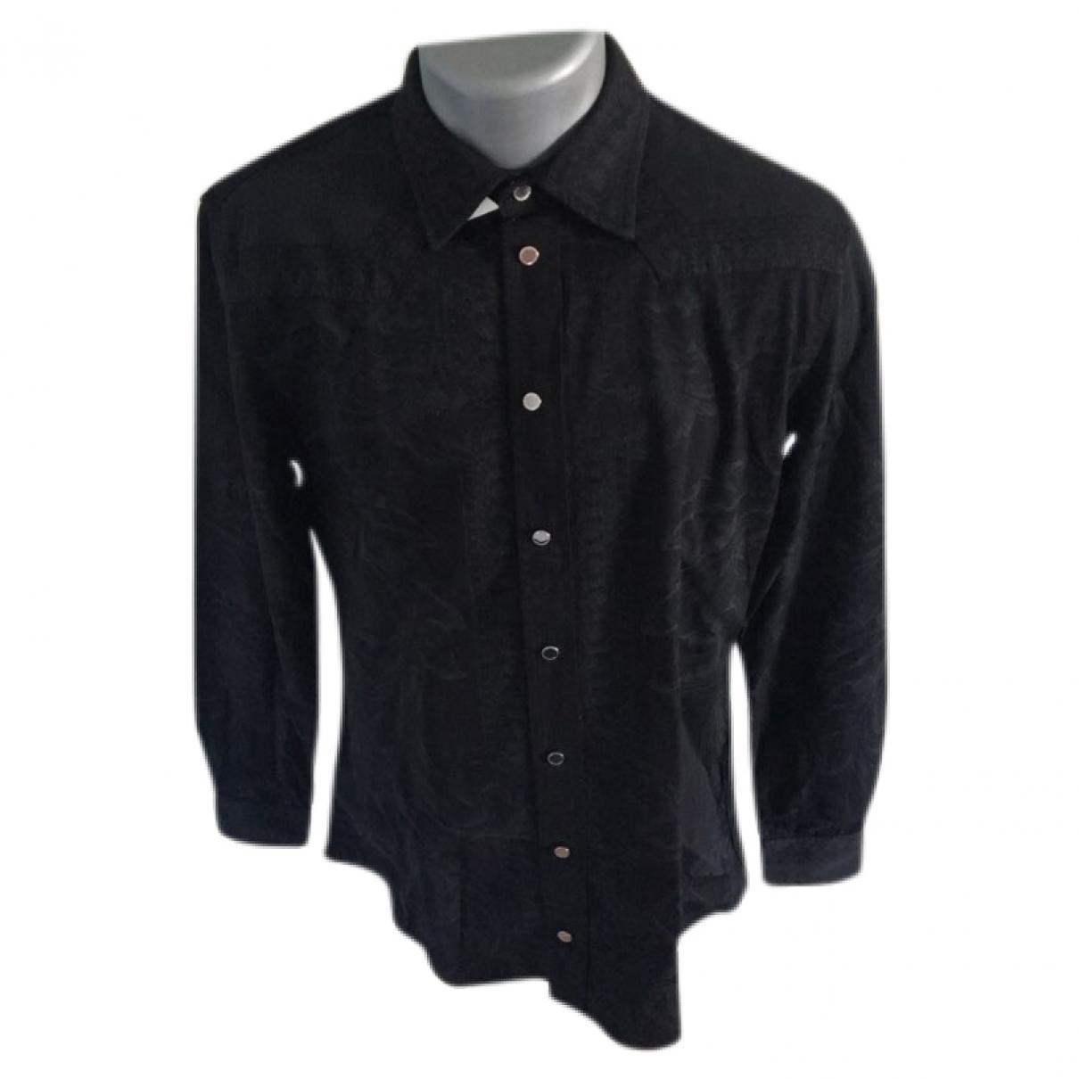 Versace - Chemises   pour homme en coton - noir