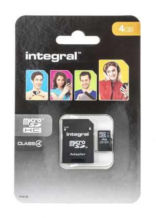Integral Memory 4 GB MicroSDHC Card Class 4