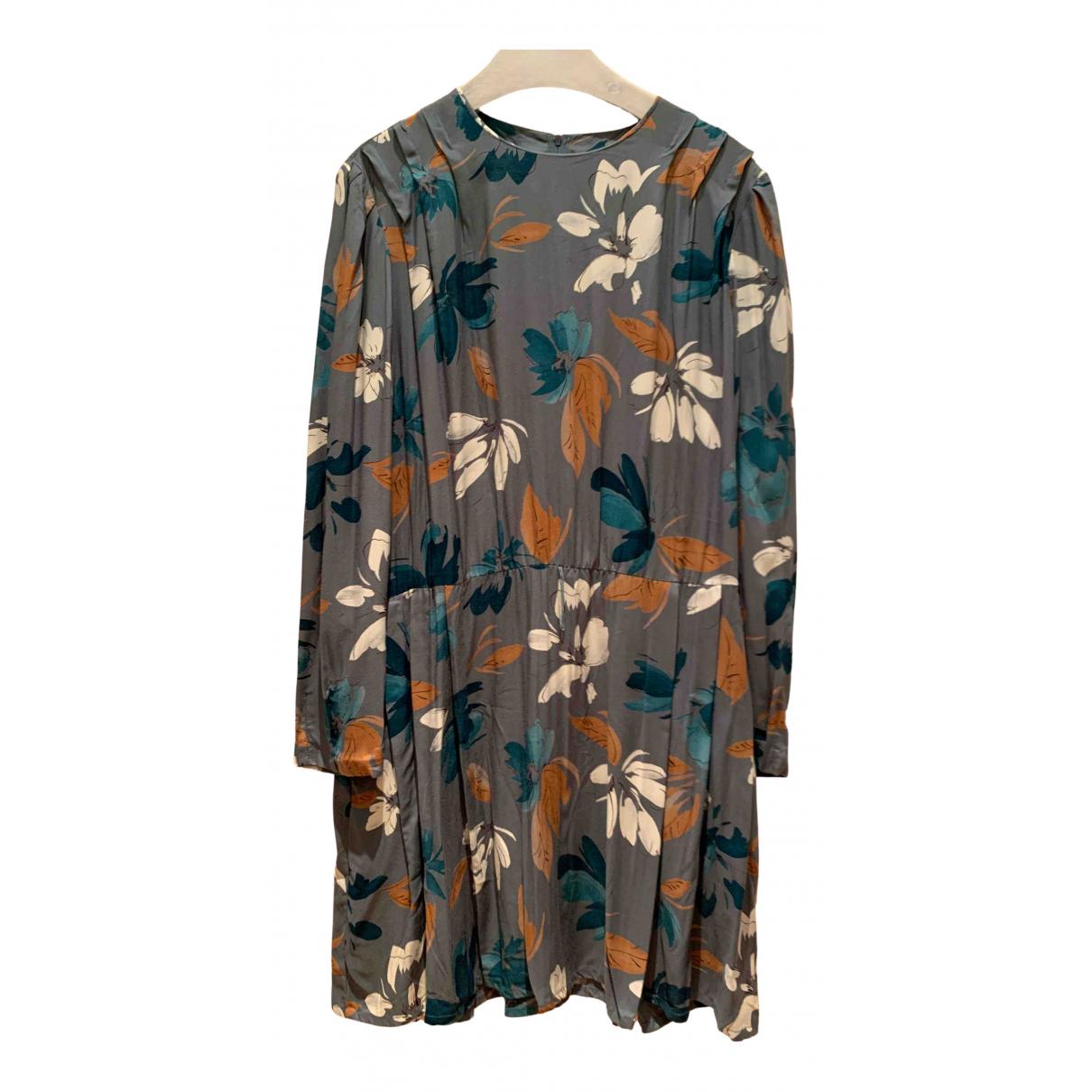 Non Signe / Unsigned \N Kleid in  Anthrazit Baumwolle
