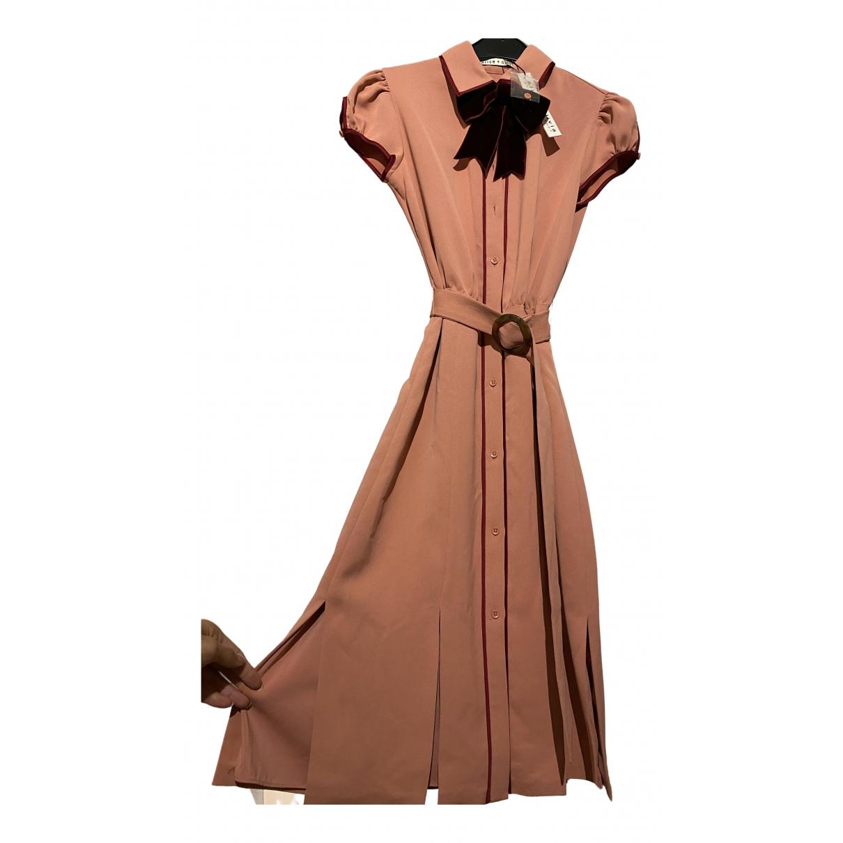 Alice & Olivia \N Kleid in  Rosa Baumwolle
