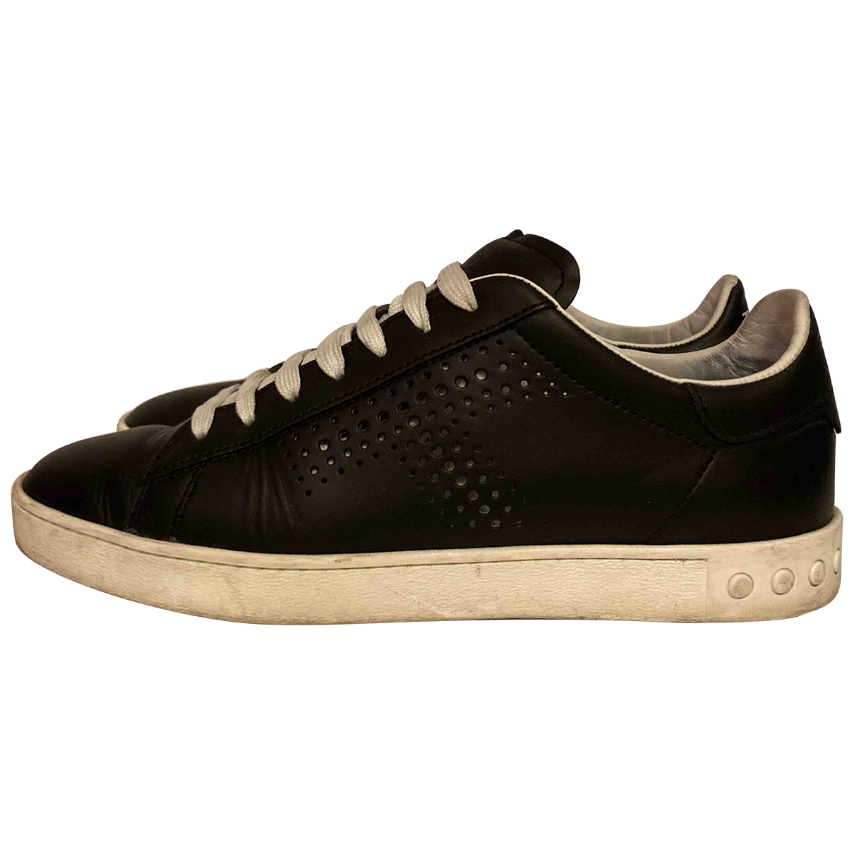 Tod's N Black Leather Trainers for Women 38 EU